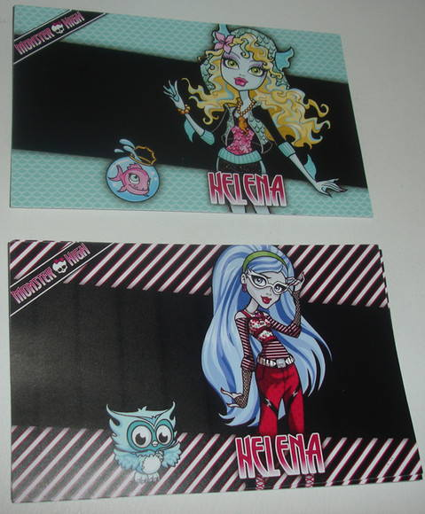 R�tulo para garrafinha Monster High