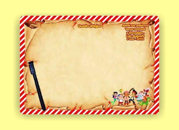 Festas   Lembrancinhas De Anivers  Rio   Jake E Os Piratas Quadro