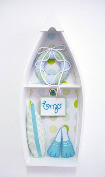 Porta de maternidade quarto surfista  Minimimos  Elo7