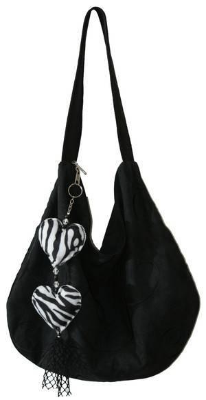 Bolsa camurça preta