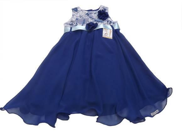 Vestido Festa Infantil Azul Royal 285012