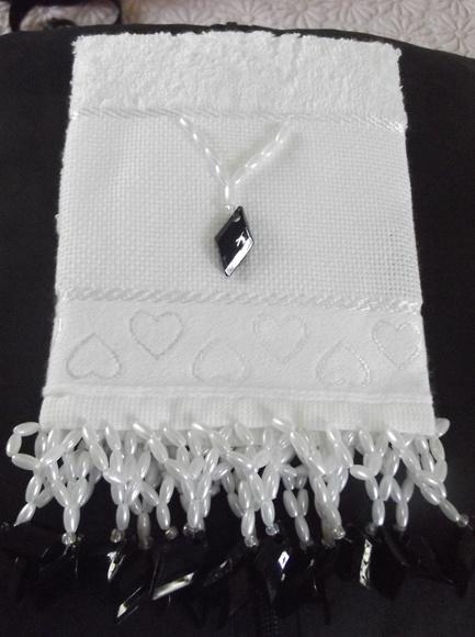 decoracao toalha lavabo:TOALHA LAVABO PEDRARIAS