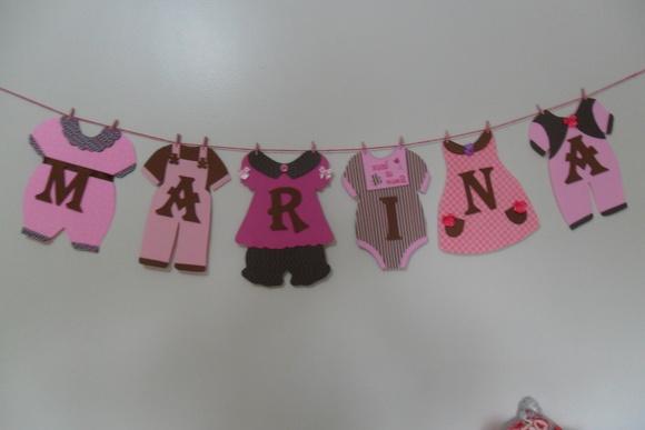 Varal de roupinhas de bebê personalizado | Criativas EVA | Elo7