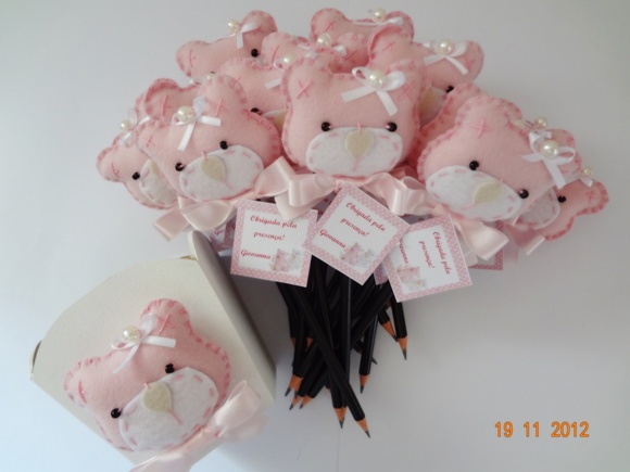 Rosa C Lapis R 4 02 Ponteira Ursinha Lilas E Roxa C Lapis R 4 02