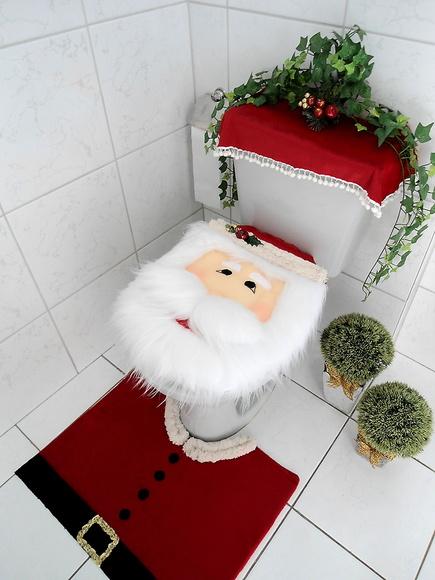 kit decoracao banheiro:Kit Banheiro Natalino