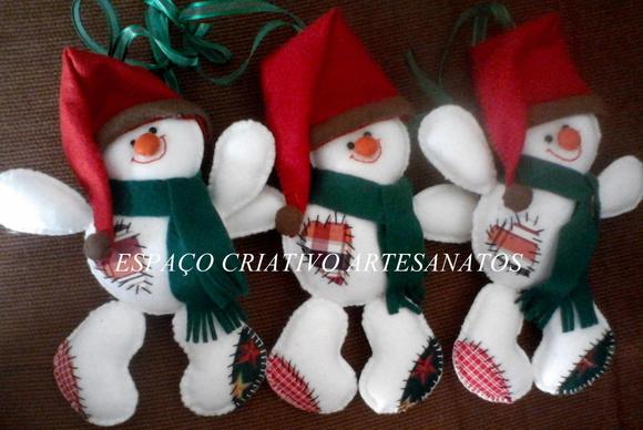 Pingente Boneco de Neve de Natal