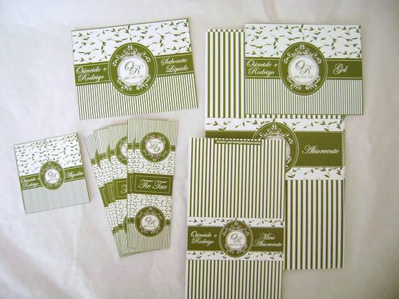 Kit Para Banheiro No Casamento : Kit toalete casamento folhas arte papel fl?via elo
