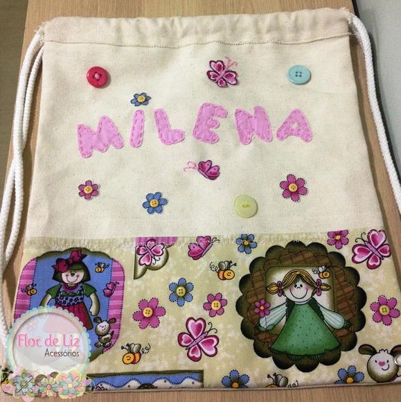 Mochila Infantil Personalizada Menina