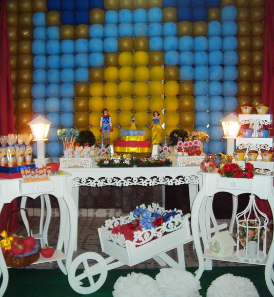 decoracao festa branca de neve provencal:Festa Provençal Branca de Neve R$350,00