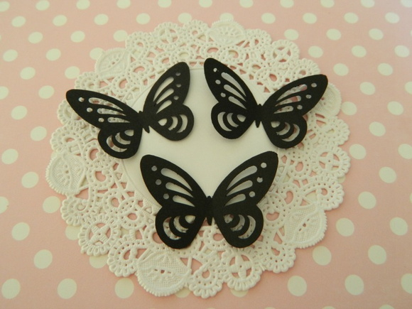 Aplique Black Butterfly 12 unid (A37)
