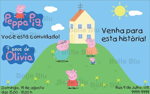 Convite Festa Infantil Peppa Pig