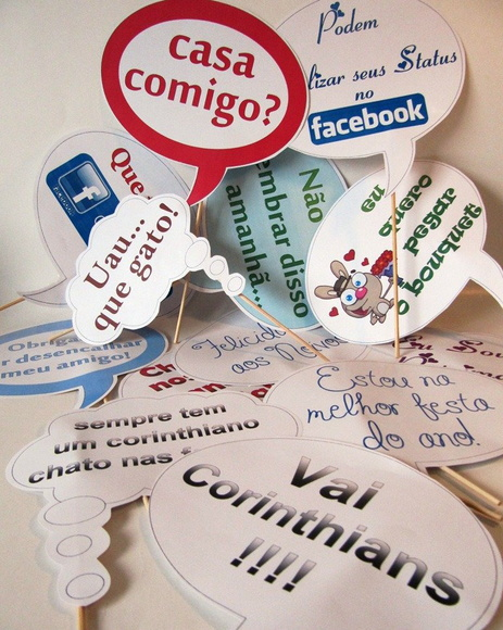 Placas com Frases Engra�adas para Fotos