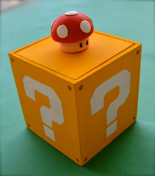 Caixa MDF Cogumelo Mario Bros