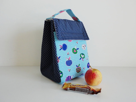 Lunch Bag - Apples & Birds