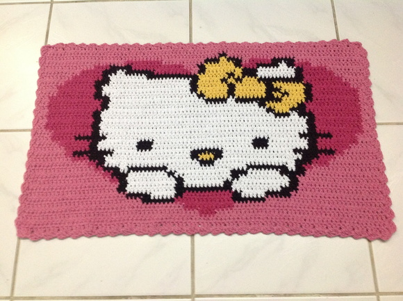Tapete infantil Hello Kitty Koizinhas Kon Arty Elo7 ~ Tapetes Quarto Hello Kitty