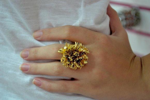 Anel r�plica Vivara - Folheado a ouro