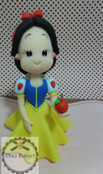 Topo de Bolo Branca de Neve
