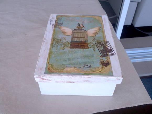 Artesanato Jornal E Cola ~ caixa em mdf estilo vintage Belly Artesanato Elo7