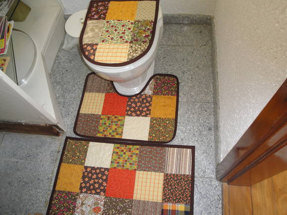 Patchwork Tapete De Banheiro : Jogo De Tapetes Banheiro Patchwork JANE BUHL PATCHWORK Elo7