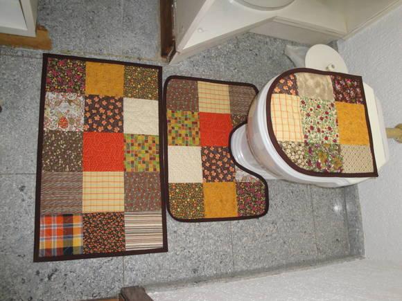 Patchwork Tapete Banheiro : Jogo De Tapetes Banheiro Patchwork JANE BUHL PATCHWORK Elo7
