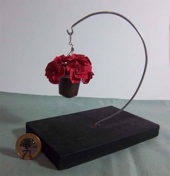 "Mini Vaso Pendente ""Rosa"""