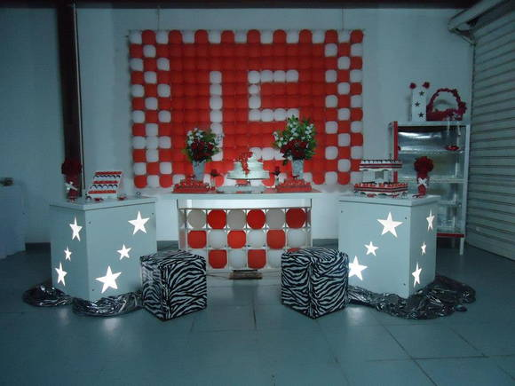 Decora��o Clean 15 Anos