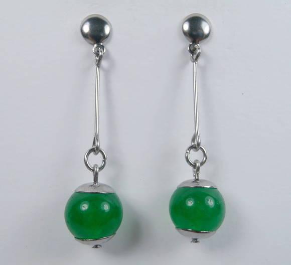 Brinco com Jade Verde