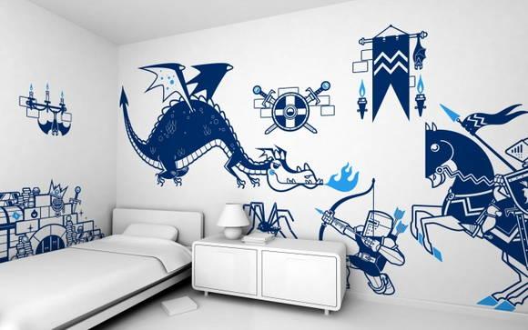 Kit adesivos cavaleiro 2f32ed adcorista arte - Bedroom ideas for twenty somethings ...