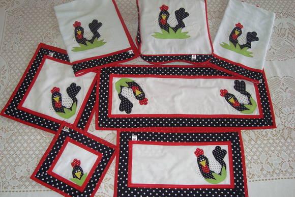 Kit de cozinha galinha Dangola  JuArtes  Elo7