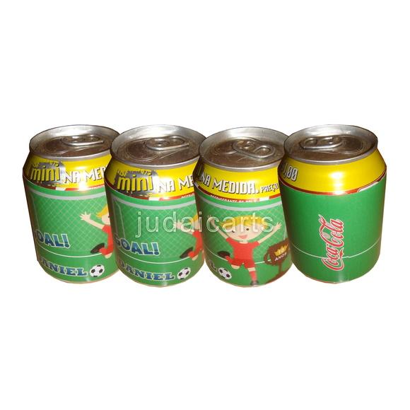 R�tulo Adesivo Latinha Mini Coca-Cola