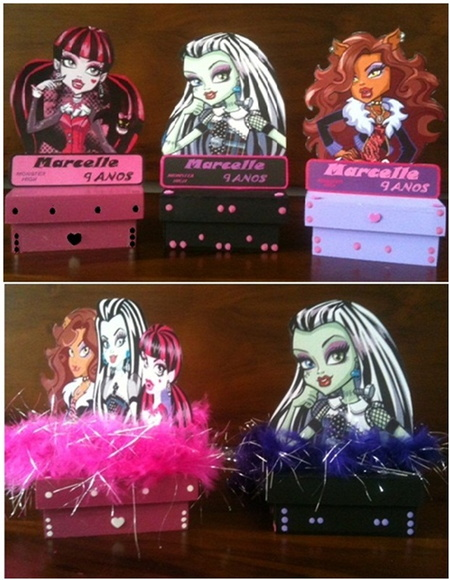 Monster High caveira enfeite de mesa