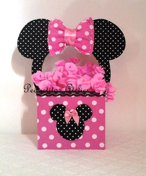 Centros de mesa de Minnie Mouse rosa - Imagui