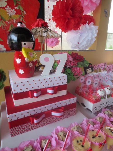 decoracao festa kokeshi:Decoração Kokeshi