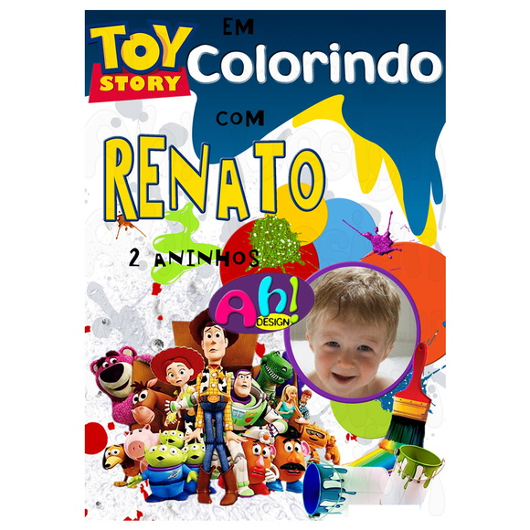 Revista de Colorir - Toy Story
