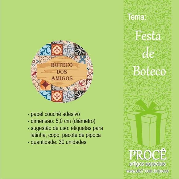 Festa Boteco - etiquetas redondas