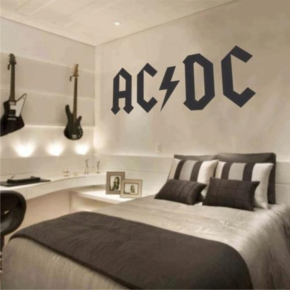 Adesivo decorativo de parede banda ac dc paredes for Bandas protectoras de paredes