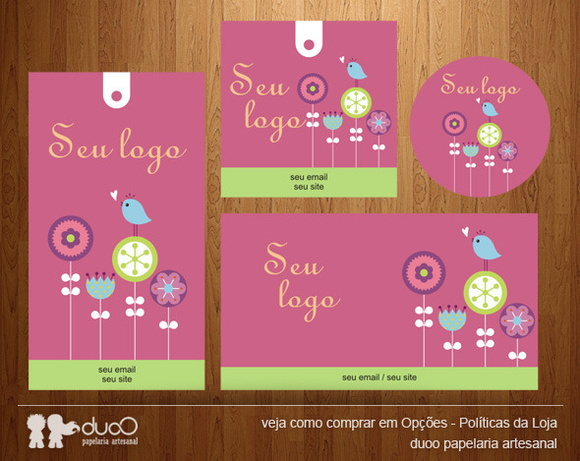 Kit031 com cart�es, tags, etiquetas