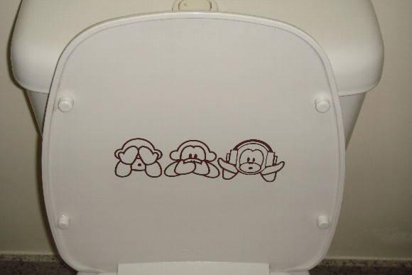 Adesivo  Banheiro 3  Adesivos SR  Adesivos Decorativos  Elo7 -> Adesivo Para Decoracao De Banheiro