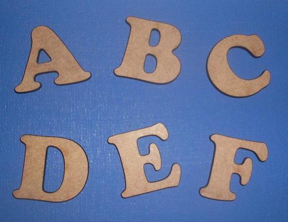 Alfabeto Cooper Black MDF