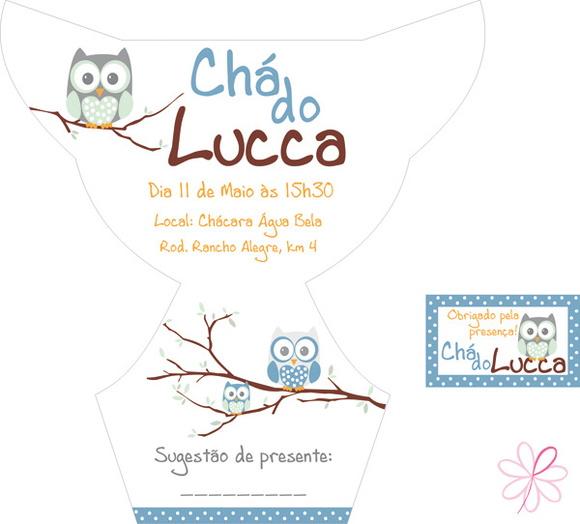 Convites > Chá de Bebê > Arte Molde Convite +tag - Chá de Fraldas