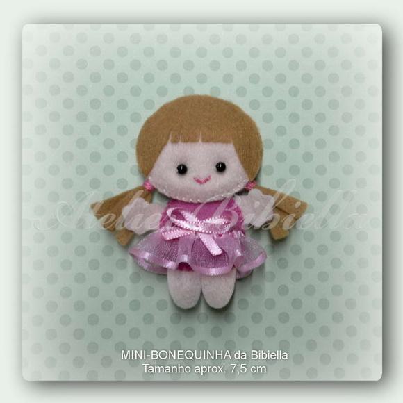 Bonequinha Mini Da Bibiella
