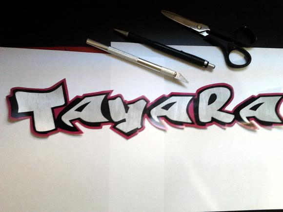 Aparador De Pelo Zoom ~ Adesivos Nomes, Letras em Aço Escovado badchild Elo7