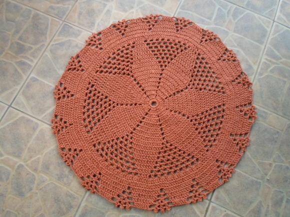 Arte Brasil Tapete Cinderela : Pin Tapete De Barbante Redondo Em Crochê Tapete De Barbante Redondo