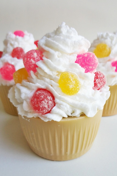 Sabonete Cupcake frutas