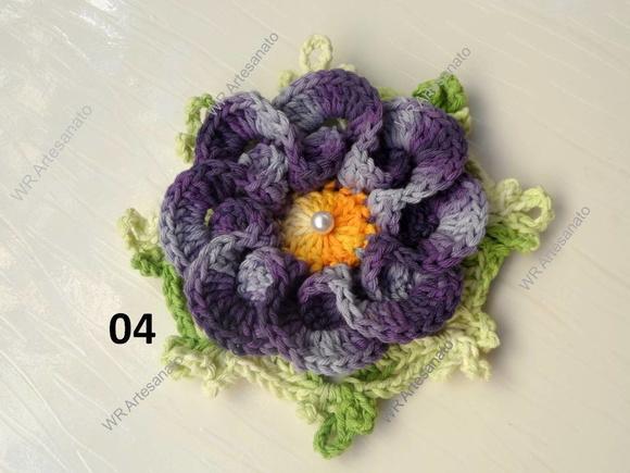 Flor de croch� em barbante barroco