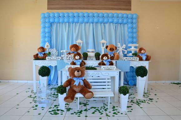 decoracao festa urso azul e marrom : decoracao festa urso azul e marrom:decoracao-provencal-ursos-marrom-e-azul-marrom.jpg