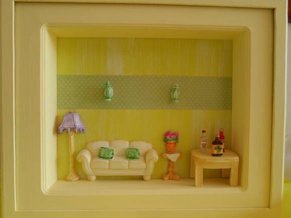 Quadro lar doce lar biscuit sandra ulh a elo7 for Sala de estar quadro
