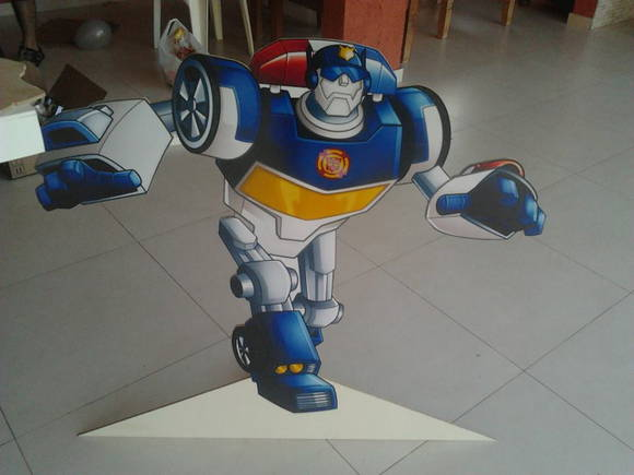 Aluguel de mesa Transformers Rescue Bots  Festas de Charme  Elo7