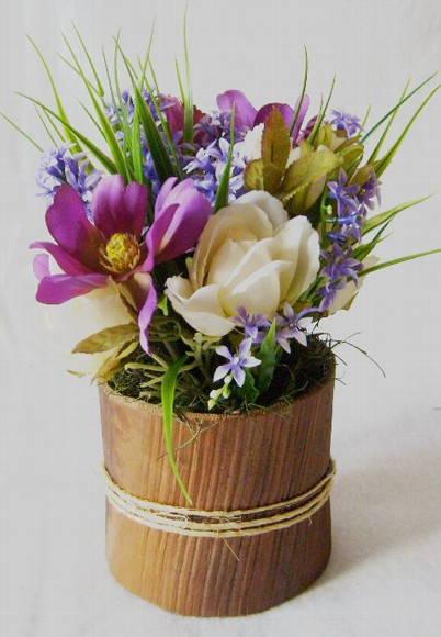 Arranjo buquezinho lil�s