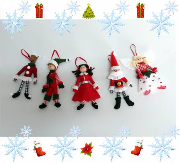 Enfeite De Natal ~ Enfeite de Natal em feltro Nina e Mone Elo7